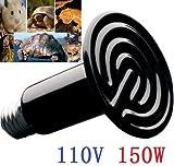 EatingBiting(R)E27 socket 150W 110V Ceramic Infrared Heat Emitter Brooder Coop Pet Infrared Lamp Bulb 20,000 hours non-stop transmit heat energy to pets turtle, snake, frog, lizard