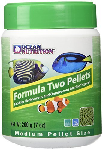 Marine Herbivore Food - Ocean Nutrition Formula Two Pellets for Herbivorous and Omnivorous Marine Tropicals 200g