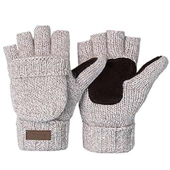Vmevo Winter Knitted Convertible Fingerless Gloves Unisex