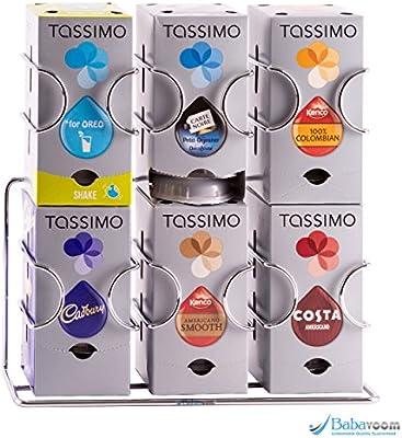 Dispensador de cápsulas tassimo, 48 cápsulas |Garantía Babavoom ...