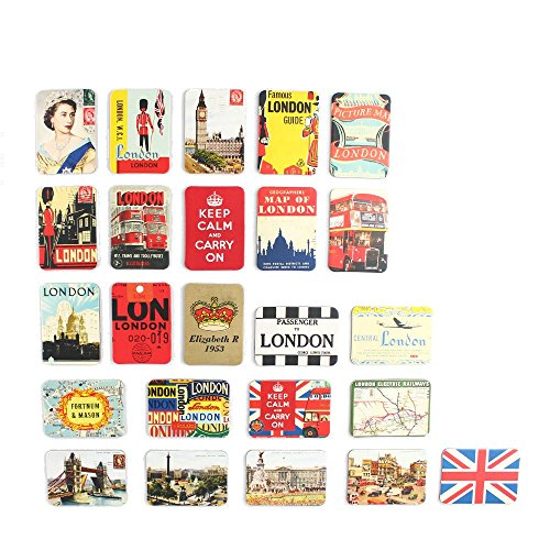 London refrigerator magnets set of 24 United Kingdom England souvenirs magnetic fridge magnet home decoration accessories arts crafts (London British)