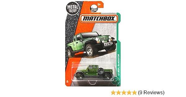 Matchbox Power Grabs '17 JEEP GLADIATOR Metal Lot of 5 FIVE Green