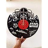 STAR WARS Handmade Vinyl Record Wall Clock -...
