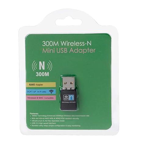 Biaobiaoc Mini 300Mbps USB RTL8192 WiFi Dongle WiFi ...