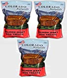 Colorado Naturals Wild Caught Salmon Jerky Dog Treats. Made in USA with 100% 1Lb (3 Pack)