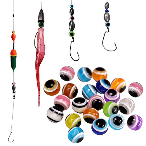 thkfish Fishing Line Beads Rigging Beads Fishing Beads Assorted Fishing Lures Carolina Rigs Taxes Rigs Slip Bobbers Rigs DIY Kit 200pcs/bag Mix 6mm(0.24in)