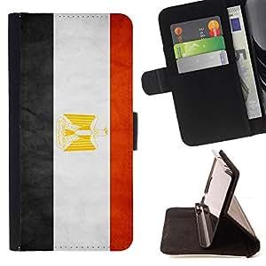 Stuss Case / Funda Carcasa PU de Cuero - Nacional bandera de la nación País Egipto - HTC Desire 626