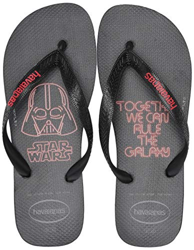 Havaianas Women's Star Wars Flip Flop Sandal, Black/Red, 7/8 M US