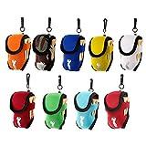 SprinZ Elastic Neoprene Mini Golf Ball Holder Bag Carry Pouch Belt Clip For Training