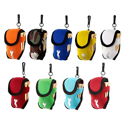 Onpiece Mini Golf Ball Holder Neoprene Golf Pouch, Color Randomly