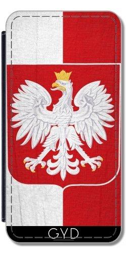 Leder Flip Case Tasche Hülle für Apple Iphone 7 / Iphone 8 - Polen-Flagge Mit Wappen by Carsten Reisinger
