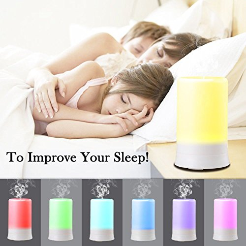 DLAND 100ML 7 Colors Electric Aromatherapy Essential oil Diffuser With 4 Time...