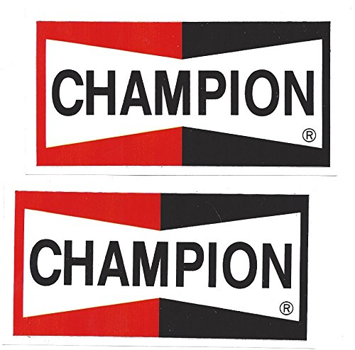 - Champion Spark Plugs Racing Decals Stickers 5-7/8 Inches Long Size Set of 2