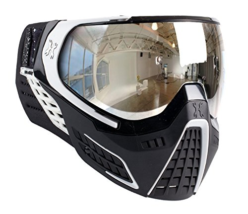 HK Army KLR Goggles - Carbon - Black / White w/ Chrome Mirror Thermal Lens by HK Army