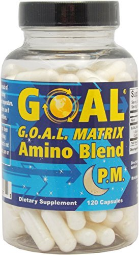 GOAL MATRIX Amino Acid Blend PM - Turn Back Time With This Anti Aging Lean Muscle Growth Booster and Fat Burner Breakthrough - Top Doctors Approve This Hormone Enhancer Formula For Men and Women (Hgh Human Hormone Spray Growth)