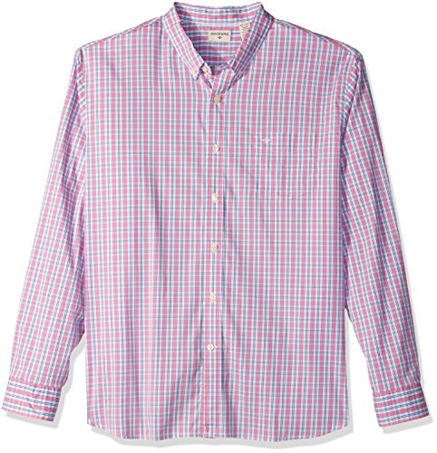 Dockers Men's Comfort Stretch Long Sleeve Button Front Shirt, Pink, X-Large - Pink Long Sleeve Button Front