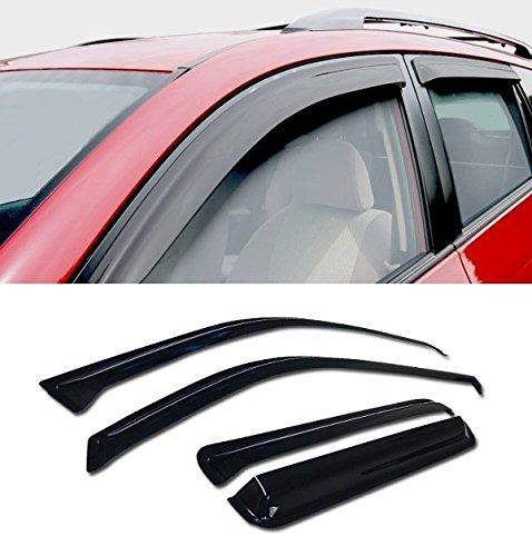 VXMOTOR - SUN/RAIN GUARD Smoke Vent Shade Deflector WINDOW VISOR - For 2002-2009 Chevy TrailBlazer/GMC Envoy/2004-2007 Buick Rainer/Ascender