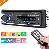 Car Stereo Player with Bluetooth, Huicocy Single-Din Version, USB / SD / MMC AUX/ Remote Control Digital Media Receivers Audio Receiver/MP3/WMA Player/FM Radio