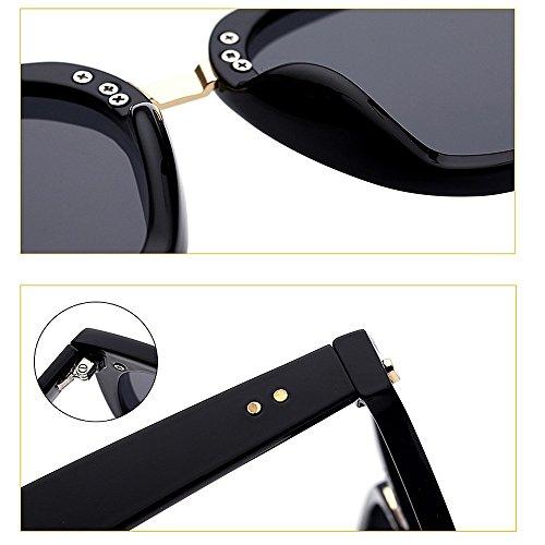 Decoración Aire C1 Ultra Sol Gafas Ojos Protección Clase Las de UV de Lente Color de Mujeres de Mujer Viajar Remache Gato de Ligero para Libre de Superior Conducción al wfqr4fI