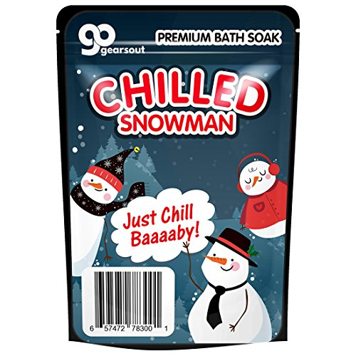 Chilled Snowman Bath Soak - Cute Snowman Bath Salts Blue Bath Cute Snowman Gifts Funny Winter Spa Gifts for Friends Stocking Stuffers for Women Unisex White Elephant Gift Christmas (Unisex Snowman)