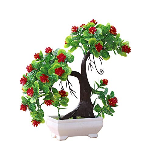 yanQxIzbiu Artificial Plants,Artificial Flowers,1Pc Artificial Tree Branch Fake Plant Flower for Home Decor Photography Props Red
