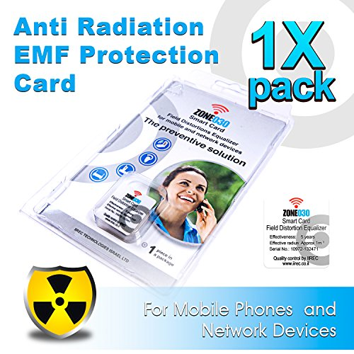 Anti Radiation EMF Protection Card for Mobile Phones and Network Devices | Gray ZONE030 Smart Card by IIREC (5 pack) by IIREC