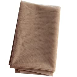 Ms Fenda Hair 1 Yard Light Brown Color French Lace Material for Making Wigs Wig Caps and Closures(Light Brown)