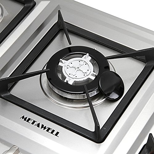 "Qatar To Cut Fuel Costs Marginally In September: METAWELL 34"" Stainless Steel 5 Burner Built-in Stoves NG"