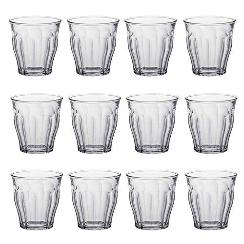 Duralex Picardie Drinking Glasses - 130ml Tumblers for Water, Juice - Pack of 12