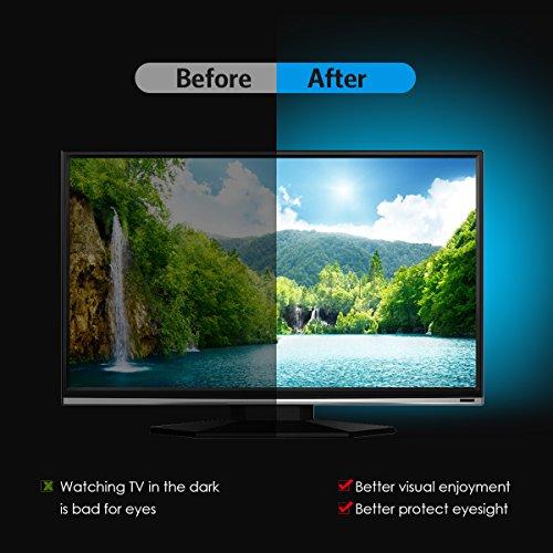 AMIR TV LED Light Strip, 30 LED TV Backlight Strip, USB Bias Monitor Lighting, Changing Color Strip Kit , Accent Light Set , Waterproof Bias Lighting For TV Desktop PC (Wireless remote controller) - Image 7