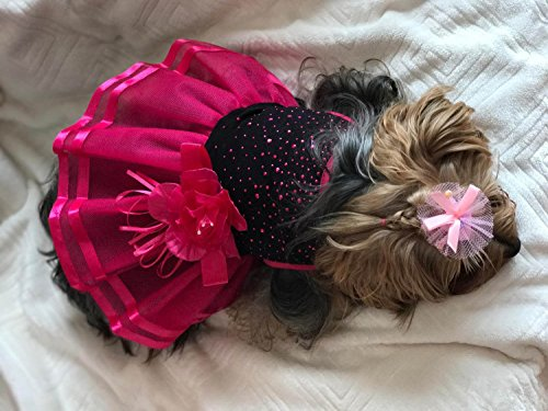Pictures of Topsung Small Dog Clothes Dress Blingbling Tutu 2