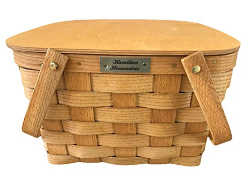 Hamilton Housewares Pie Carrier Basket - 2 Pie Basket with Lid and Tray - Made in USA by Hamilton Housewares