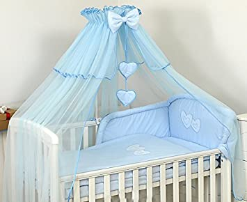 BABY COT BED CANOPY DRAPE BIG 480cm COVERS 4 SIDES Holder Not Included