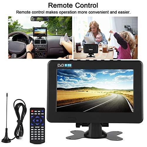 Huairdum Portable Digital TV, LEADSTAR DVB-T2 16:9 1080P Car Digital TV  Stereo Surrounding Portable TV (9