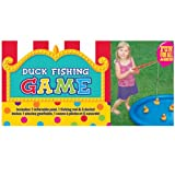 """Carnival Fair Fun Duck Fishing Game Party Activity, Plastic , 3' x 3"""" , (7 parts)"""