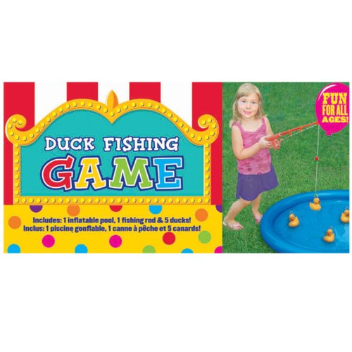 Carnival Fair Fun Duck Fishing Game Party Activity, Plastic , 3' x 3