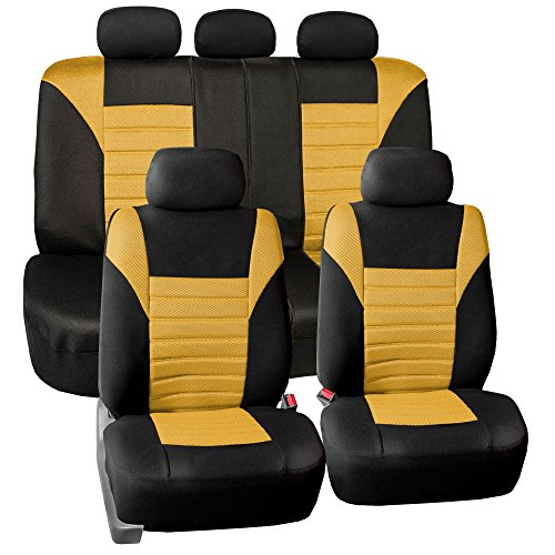 yellow mustang car seat covers - 7