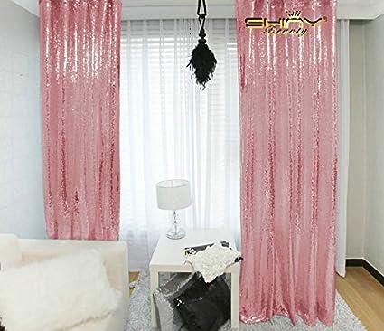 Shinybeauty Pailletten Backdrop 3ftx8ft Pailletten Stoff Hochzeit Hintergründe Pailletten Vorhänge Polyester Mischgewebe Fuchsia Pink 3ftx8ft Küche Haushalt