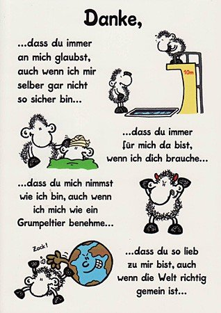Sheepworld Grusskarte Danke