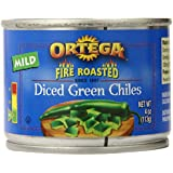 Ortega Diced Green Chiles, 4 Ounce (Pack of 12)