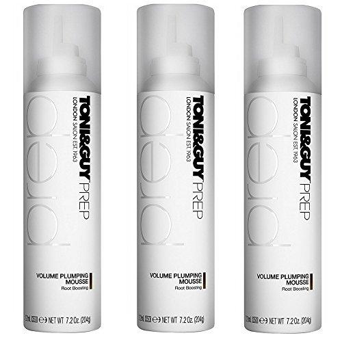 (Toni&Guy Prep Volume Plumping Mousse, 7.2 Fluid Ounce by Toni & Guy (3 pack))