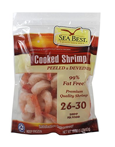 Sea Best 26/30 Cooked Peeled and Deveined Shrimp, 16 Ounce