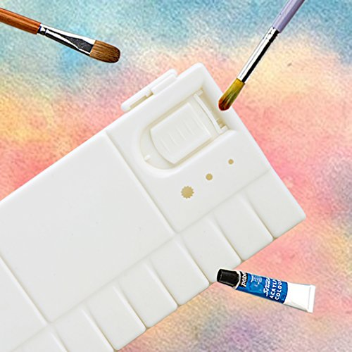 Kocome 25 Grids Large Art Paint Tray Artist Oil Watercolor Plastic Palette White by Kocome (Image #3)
