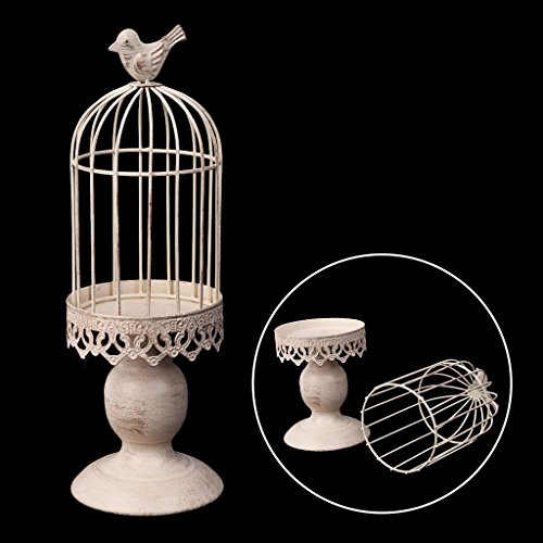 (Keaiduoa Metal Bird Cage Candle Holder Tealight Candlestick Hanging Lantern Decor Gift )