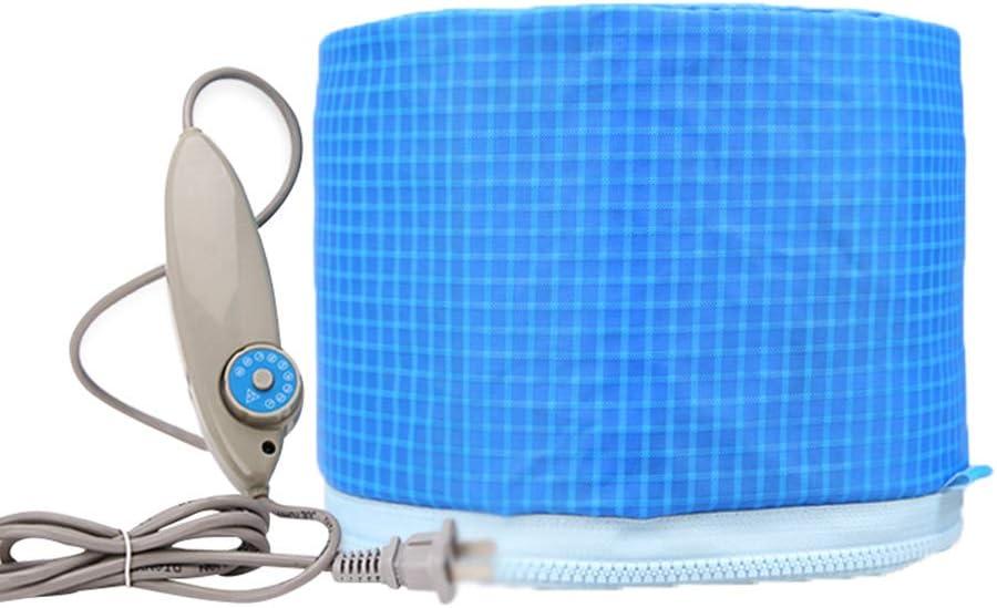 CHUIX Máscara de Pelo Azul Cielo Tapa de Aceite para Hornear Tapa de calefacción eléctrica generador de Calor Cuidado del Cabello SPA máscara de Pelo calefacción Herramienta
