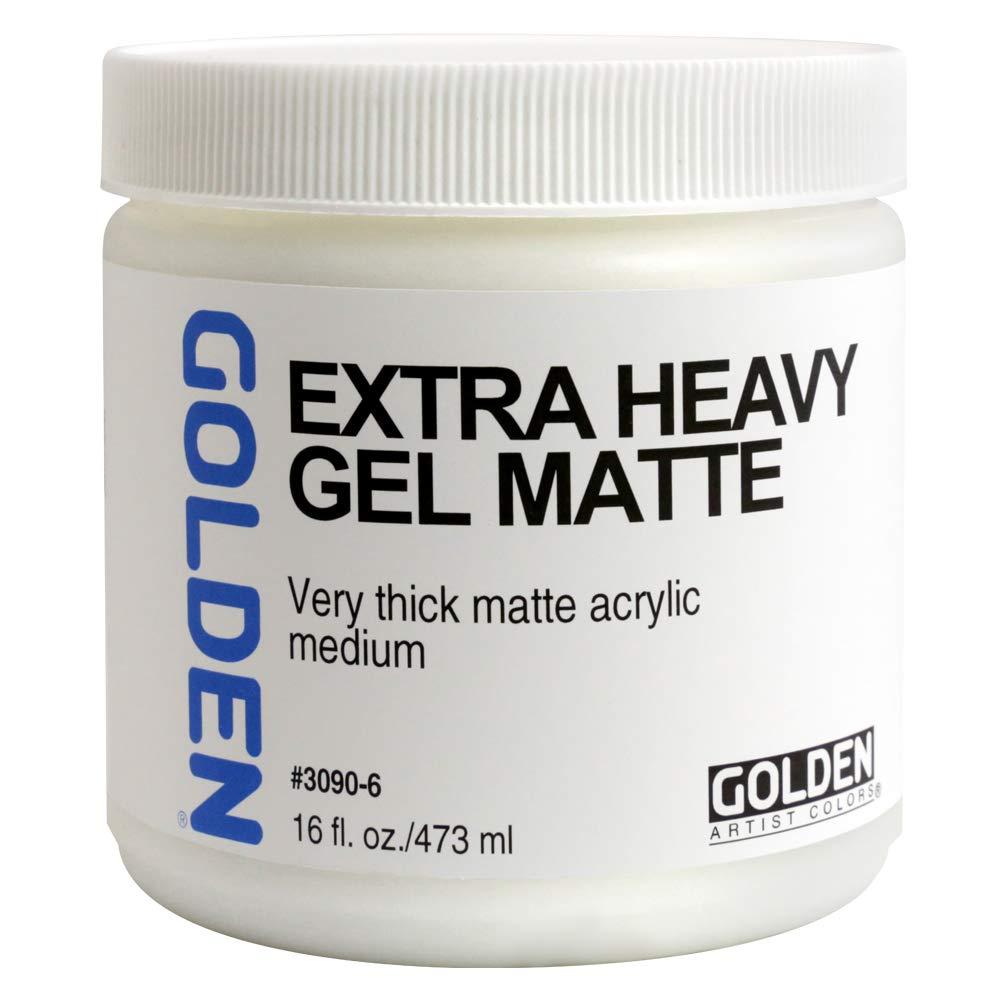 Golden Acryl Med 16 Oz X-Heavy Gel Matte by Golden