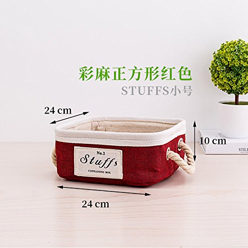 L CUPWENH Fabric Storage Basket, Clothing Storage Basket, Desktop Storage Box, Portable Snack Finishing Box,J