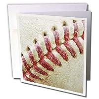 Florene Sports - Closeup Red Seams On Baseball - Greeting Cards