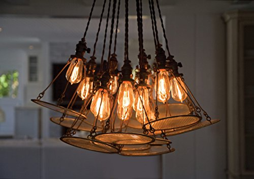 4 Pack Sale - Old Fashion Edison Light Bulbs - Five Star Rated - 60W Vintage Squirrel Cage Filament - 120 Volts - 230 Lumens - ST58 Teardrop - Dimmable Antique Amber Lighting - Warranty Included by Moonrock & Co. (Image #4)