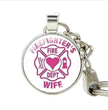 Joyas llavero encanto llavero, diseño de bombero, bombero ...